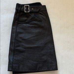 Rebecca minkoff leather skirt